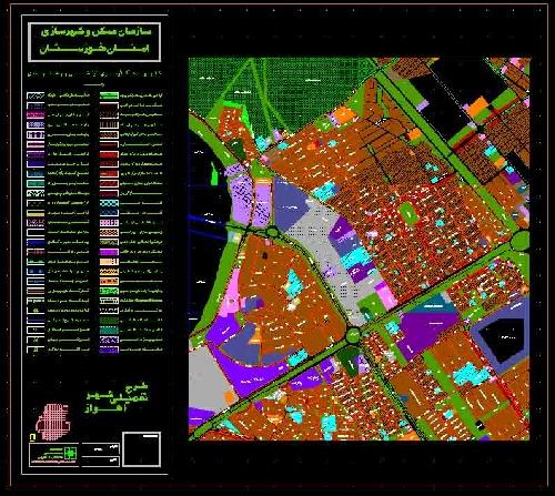 1763975 - نقشه اتوکد طرح تفصیلی محله زیتون کارمندی اهواز