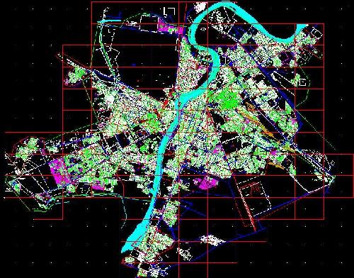 1764010 - دانلود نقشه اتوکدی بلوک بندی شهر اهواز